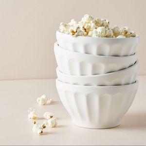 Anthropologie Matte Latte Bowls (set of 4)